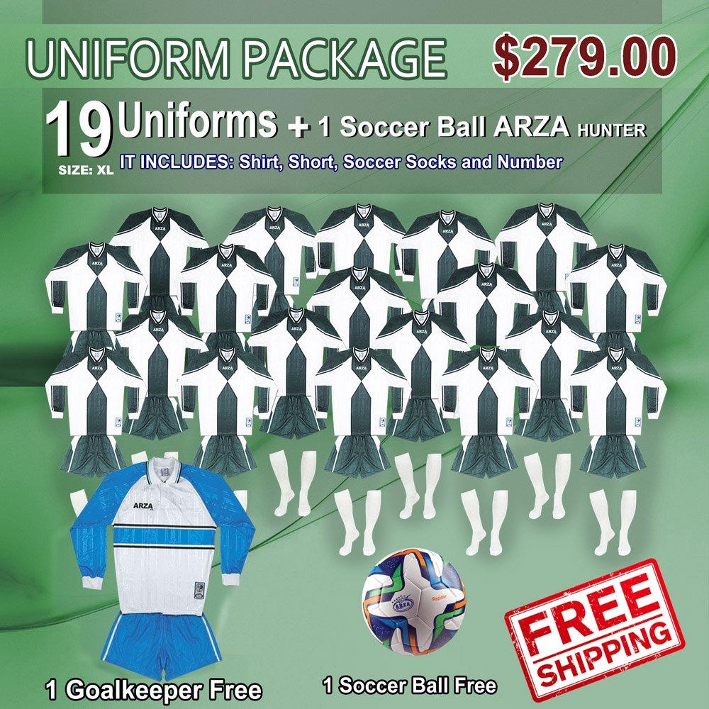 均一Arza Universidad ar-2 for Soccer。パッケージ$ 279.00 B07212X4DNグリーン