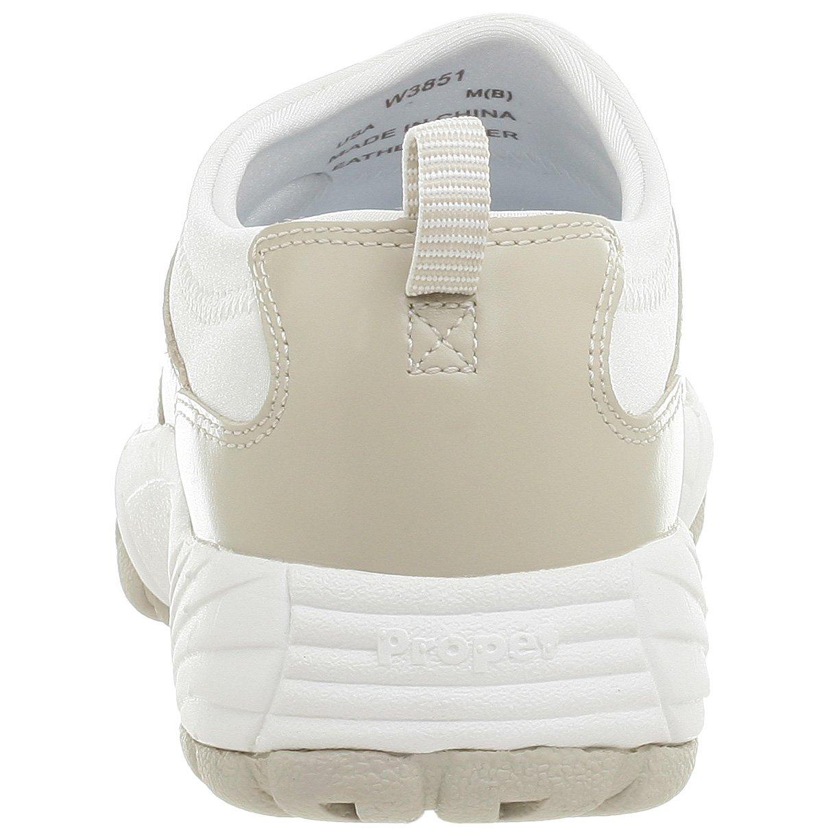 Propet Women's W3851 Wash & Wear Slip-On Women's B000PYH7TS 9.5 XX (US Women's Slip-On 9.5 EEEE)|Bone/White 179812