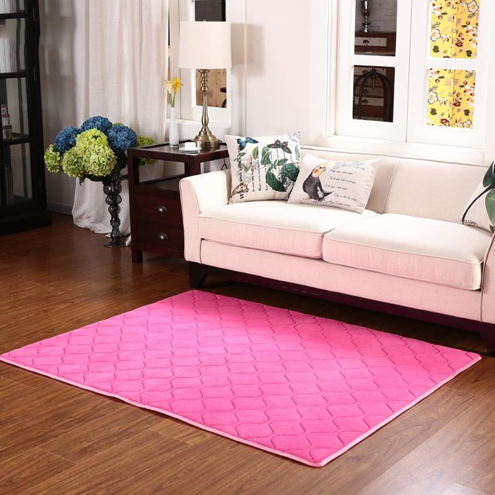 WAN SAN QIAN- Children Bedroom Carpet Modern Simple Living Room Carpet Sofa Rug Rectangle Blended Carpet Bedside Lattice Rug Rug ( Color : A , Size : 180x200cm )
