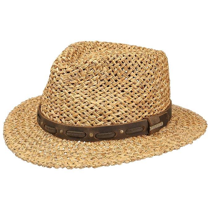9051bee8f Stetson Sombrero de Paja Corowa Traveller Hombre | Verano Sol con Banda  Piel Primavera/Verano | L (58-59 cm) castaño Claro: Amazon.es: Ropa y  accesorios