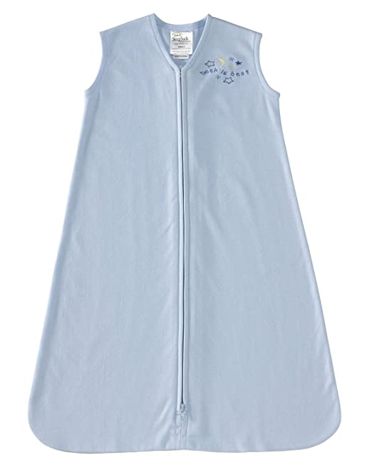 HALO SleepSack 100% Cotton Wearable Blanket, Baby Blue, Small