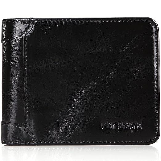 453129873d40 FlyHawk RFID Blocking Genuine Leather Wallets for Mens Bifold Money Clip  Purse