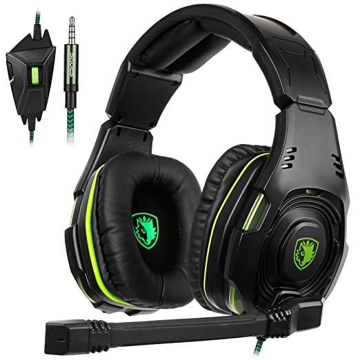 SADES SA938 Gaming Headset multi-platform cuffie da gioco con Mic 3.5 mm  jack In-line volume over-ear cuffie Gaming per nuovi Xbox One PC PS4 smartphone   ... bdb87112142a