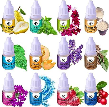 Aromas Para Hacer Jabón Juego De 12 Aceites Aromáticos De Grado Premium Suministros Para Hacer Jabón Aceite De Fragancia Para Granos De Aroma Aromas Para Bombas De