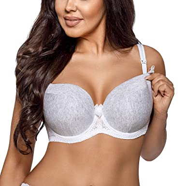 ad16eff9ee80c AVA 1570 Underwired Maternity Nursing Bra Padded Cups lace