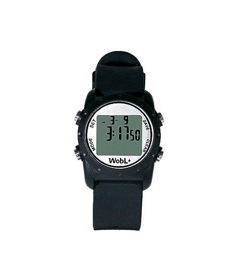 WobL + (NEGRO) reloj recordatorio vibrante a prueba de agua | Entrenamiento para ir al baño | Recordatorio de TDAH: Amazon.es: Relojes