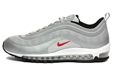 new product 67b98 40306 Nike Men Air Max 97 Premium Metallic Silver Varsity Red Black 554716-060 (