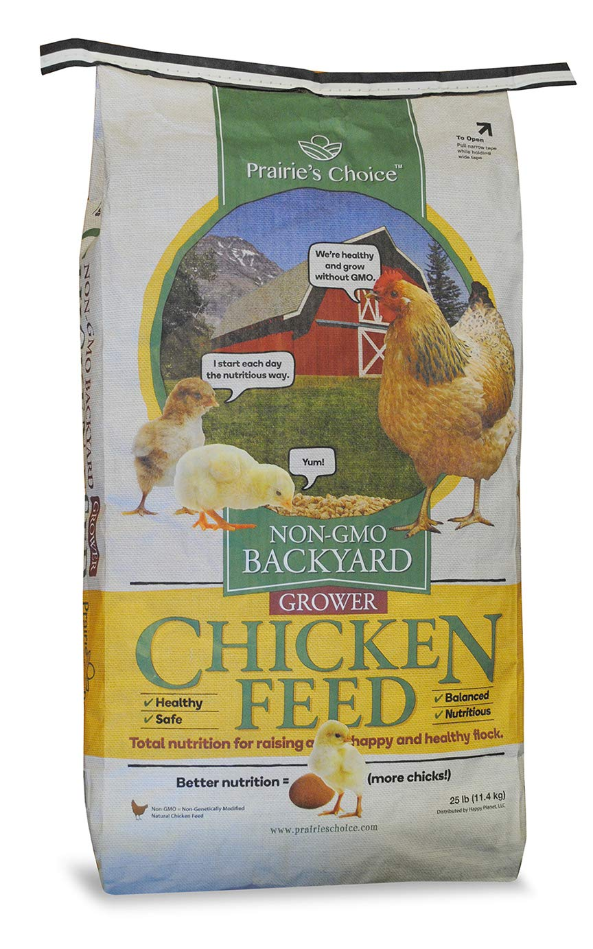 Prairie's Choice Non-GMO Backyard Chicken Feed - Grower Formula, 25lbs by Prairie's Choice