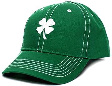 2ede625a7df Ireland Irish Shamrock Clover Leaf St Patricks Day Embroidered Hat Cap Green