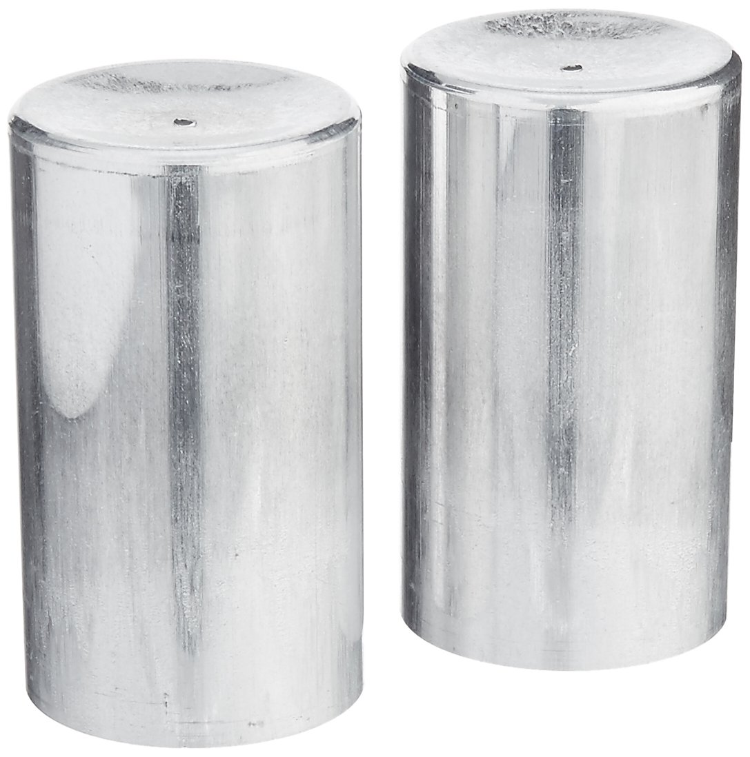 Candlewic 2Pk of 2 X 3.5 Inch Round Aluminum One Piece Candle Molds