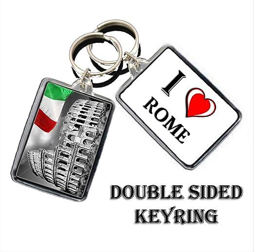 Keyring I corazón Llavero de Roma – Me Encanta Roma Llavero