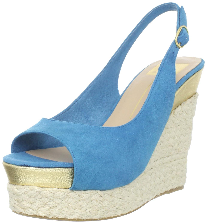 Dolce Vita Women's Joss Wedge Sandal B005UUOKE2 8.5 B(M) US|Teal Suede