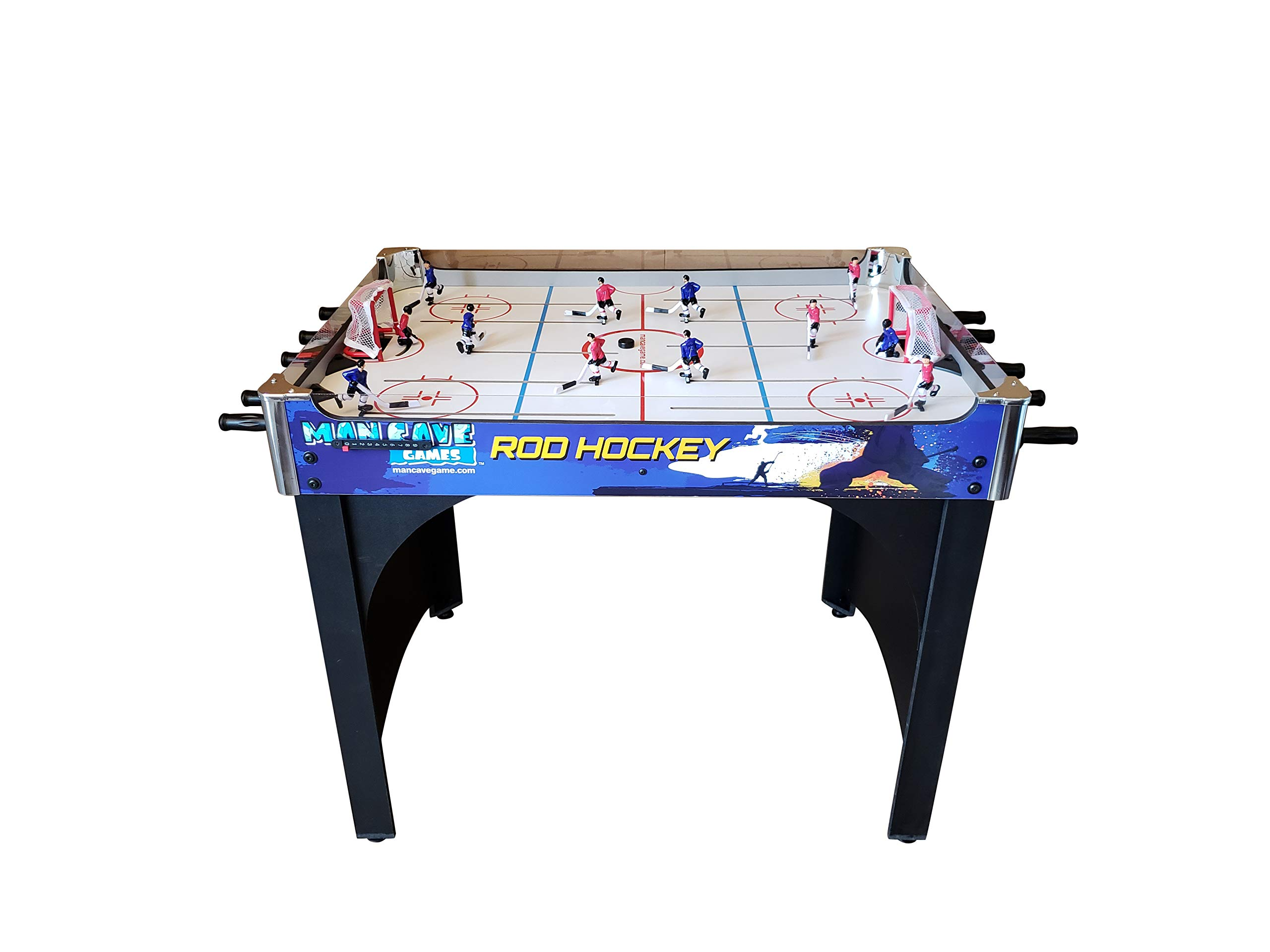 ManCave Games 40'' Rod Hockey Game. Head-to-Head Table Hockey with Manual Scoring. Great Size, Durability & Easier for Kids to Play Than Dome Hockey. by ManCave Games