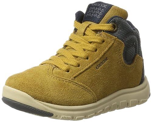 Geox J Xunday D Sneaker a Collo Alto Bambino Grigio Grey/Lt Grey 29
