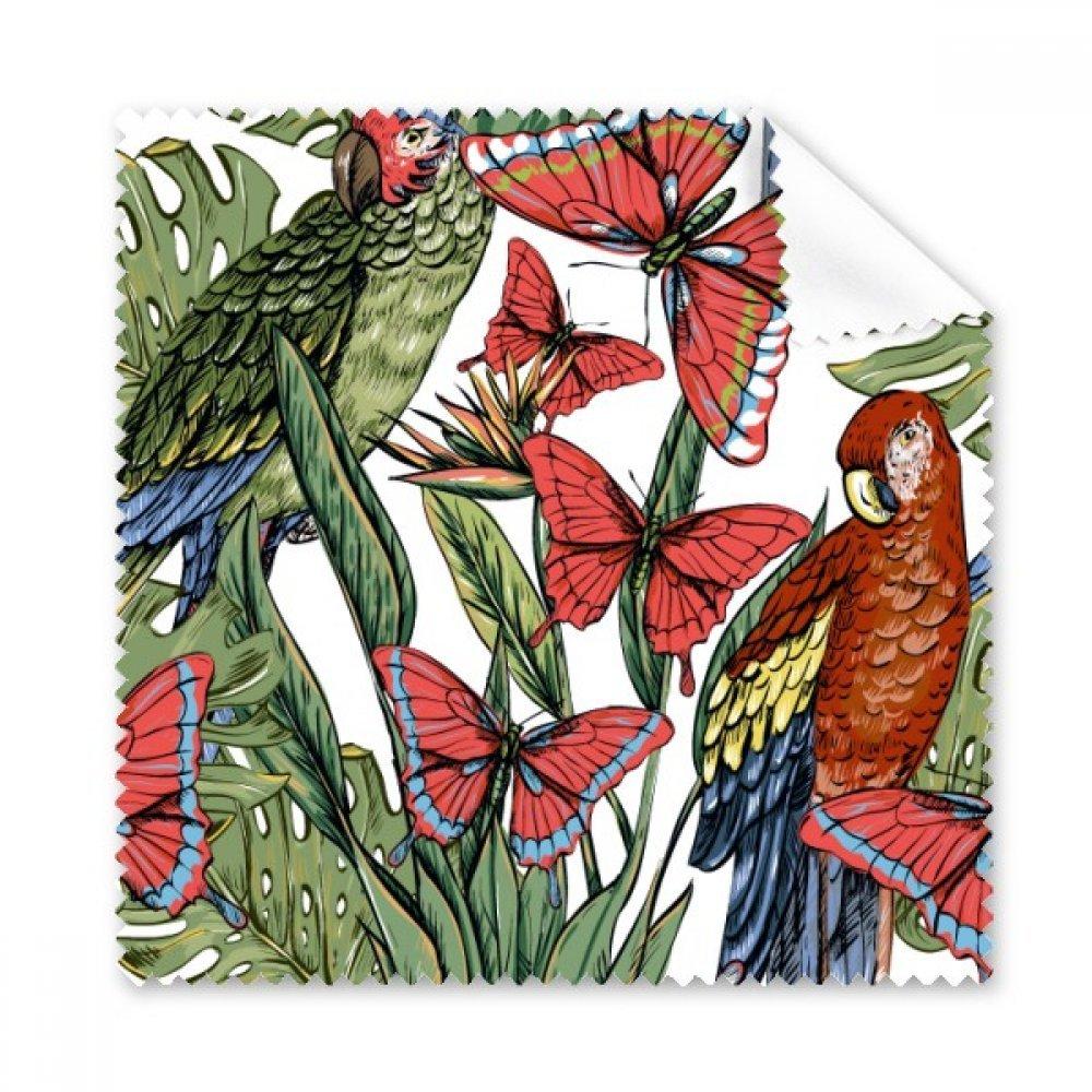 Flower Plant Leafホワイト鳥バタフライGlasses布クリーニングクロスギフト電話画面クリーナー5点   B0761TMLPN
