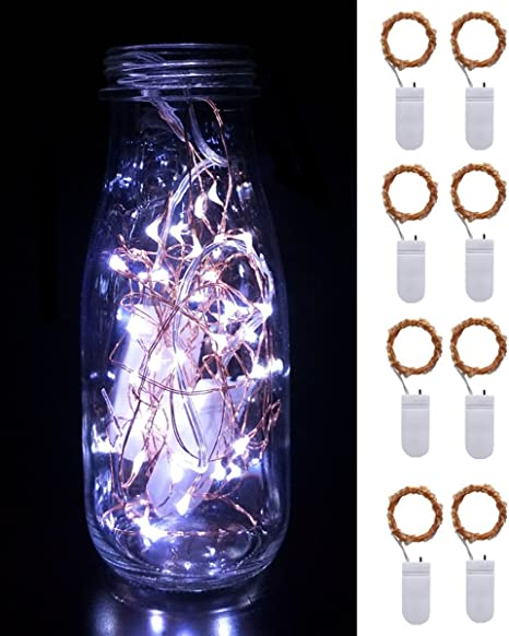 20 Leds Starry Fairy Lights Rope Lights For Seasonal Decoration Home Holiday Wedding Party 6 Pack Fairy String Lights Copper Wire Lights Warm white DIGSELL Battery Operated 6.6ft 2M
