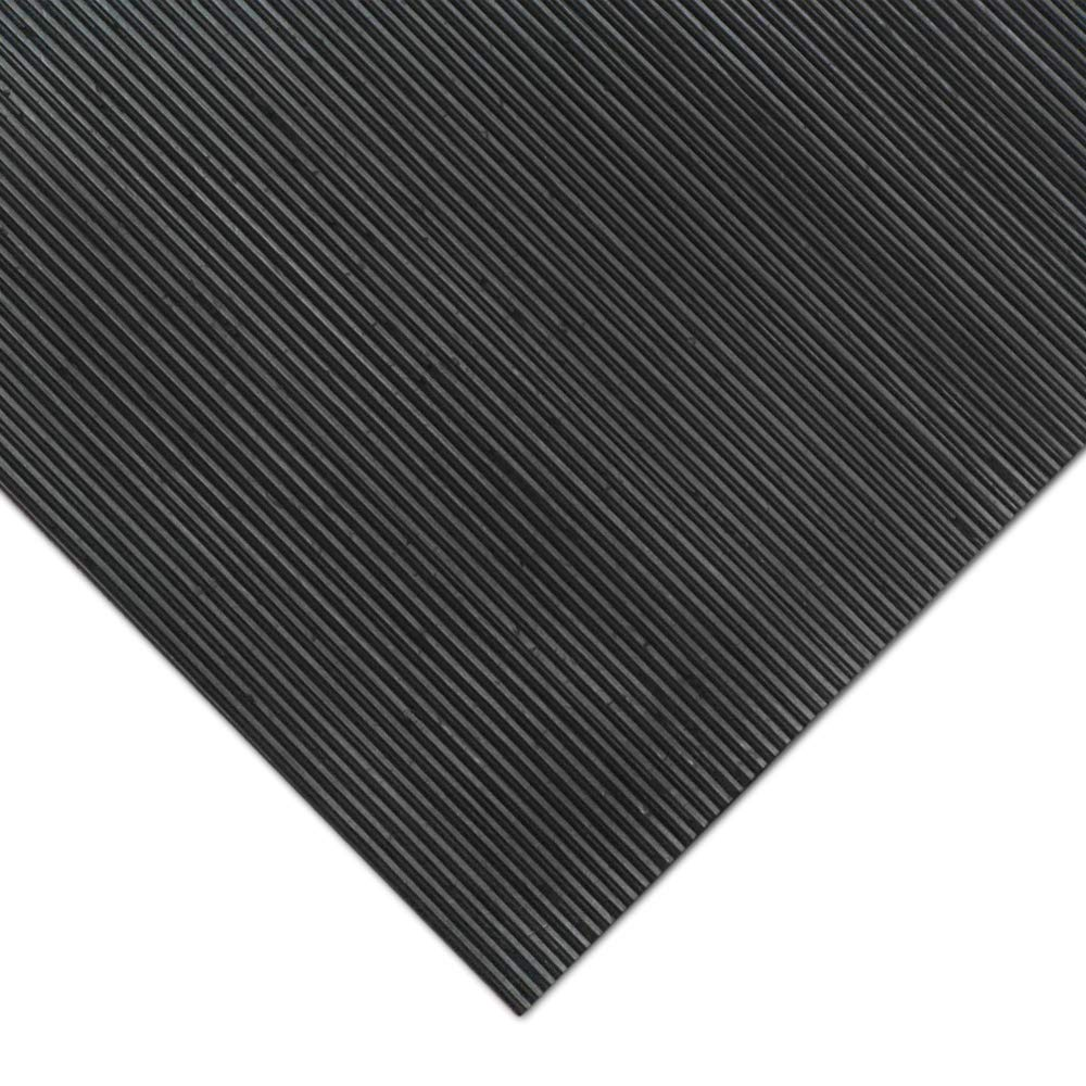 1//8 Thick x 3ft x 1ft Runners Rubber-CalFine Rib Corrugated Rubber Floor Mats