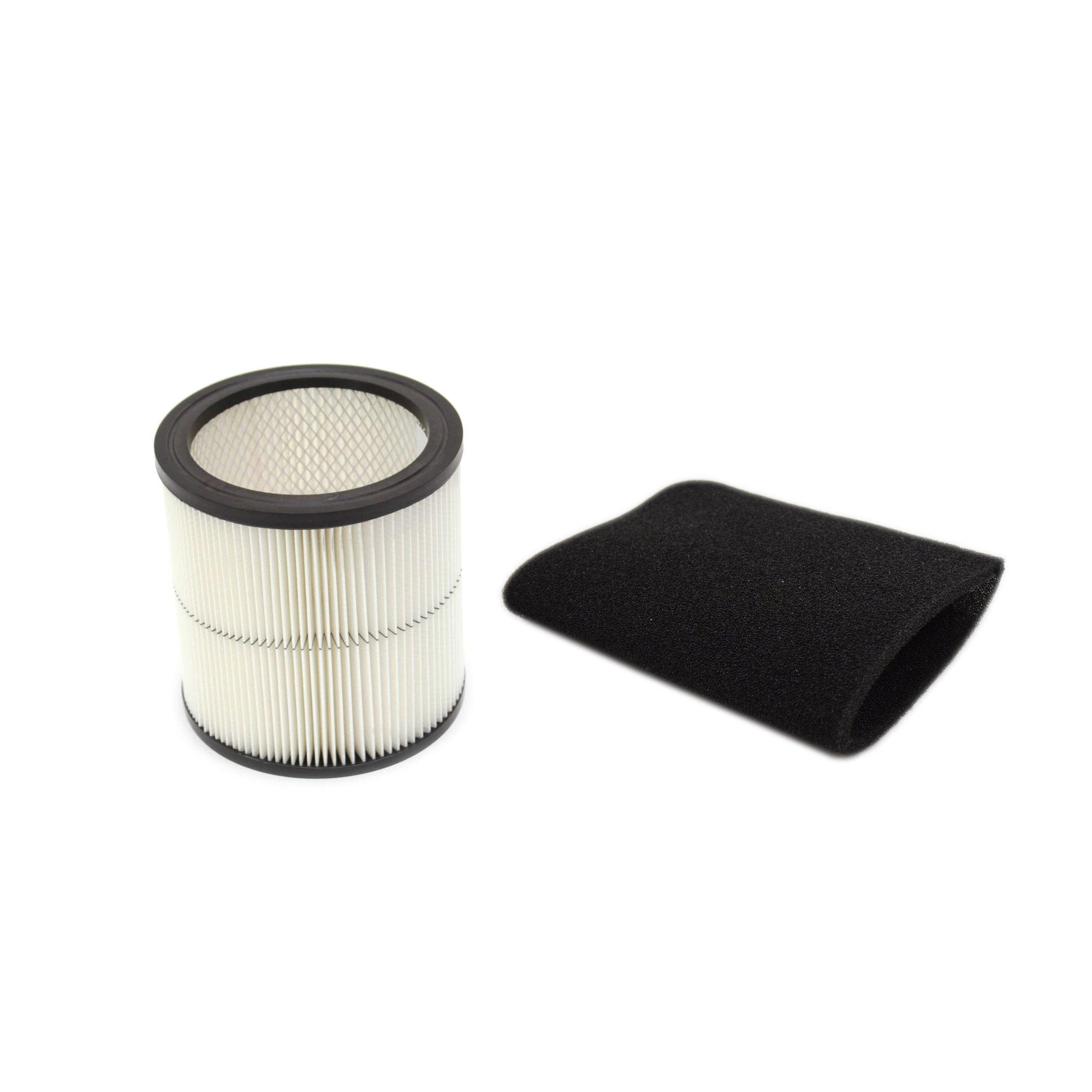 Craftsman 17884 Shop Vacuum Filter and Shop Vacuum 17888 Foam Filter Sleeve Bundle by Craftsman