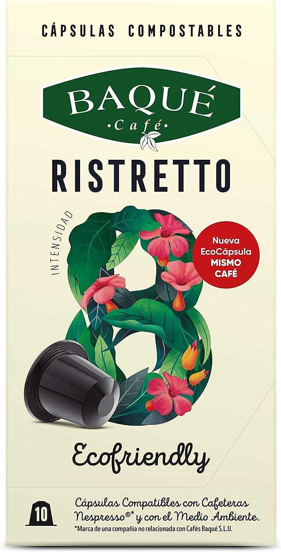 Cafés Baqué - 10 Capsulas Compatibles Nespresso Ristretto ...