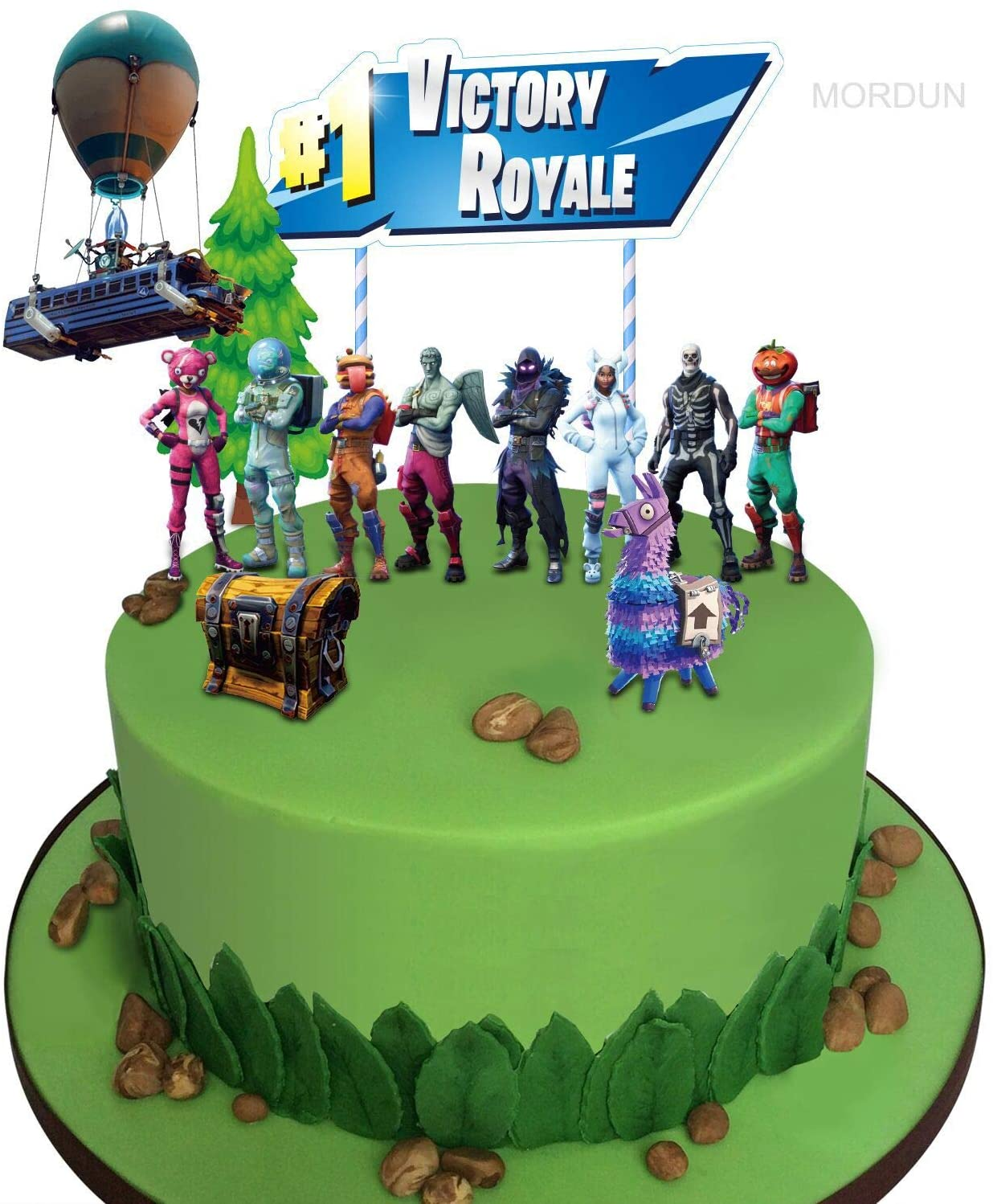 Fabulous Amazon Com Mordun Video Game Cake Toppers Kit Llama Loot Chest Funny Birthday Cards Online Inifofree Goldxyz