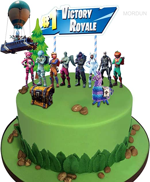 Prime Amazon Com Mordun Video Game Cake Toppers Kit Llama Loot Chest Funny Birthday Cards Online Alyptdamsfinfo