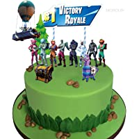 MORDUN Video Game Cake Toppers Kit - Llama Loot Chest Cake Decorations - Birthday Party Supplies for Gamers Boys Girls…