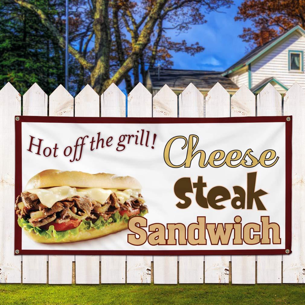 Cheese Steak Sandwich Indoor Store Sign Vinyl Decal Sticker