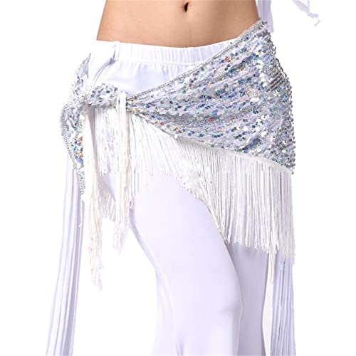 Dance Accessories Costume Danza del ventre anca sciarpa Gonna Triangle Sequins Tassels Wrap Cintura