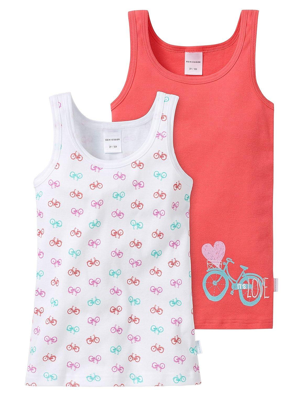 88644153a2f5 Schiesser 148611, Camiseta de Tirantes Para Niñas, Pack de 2