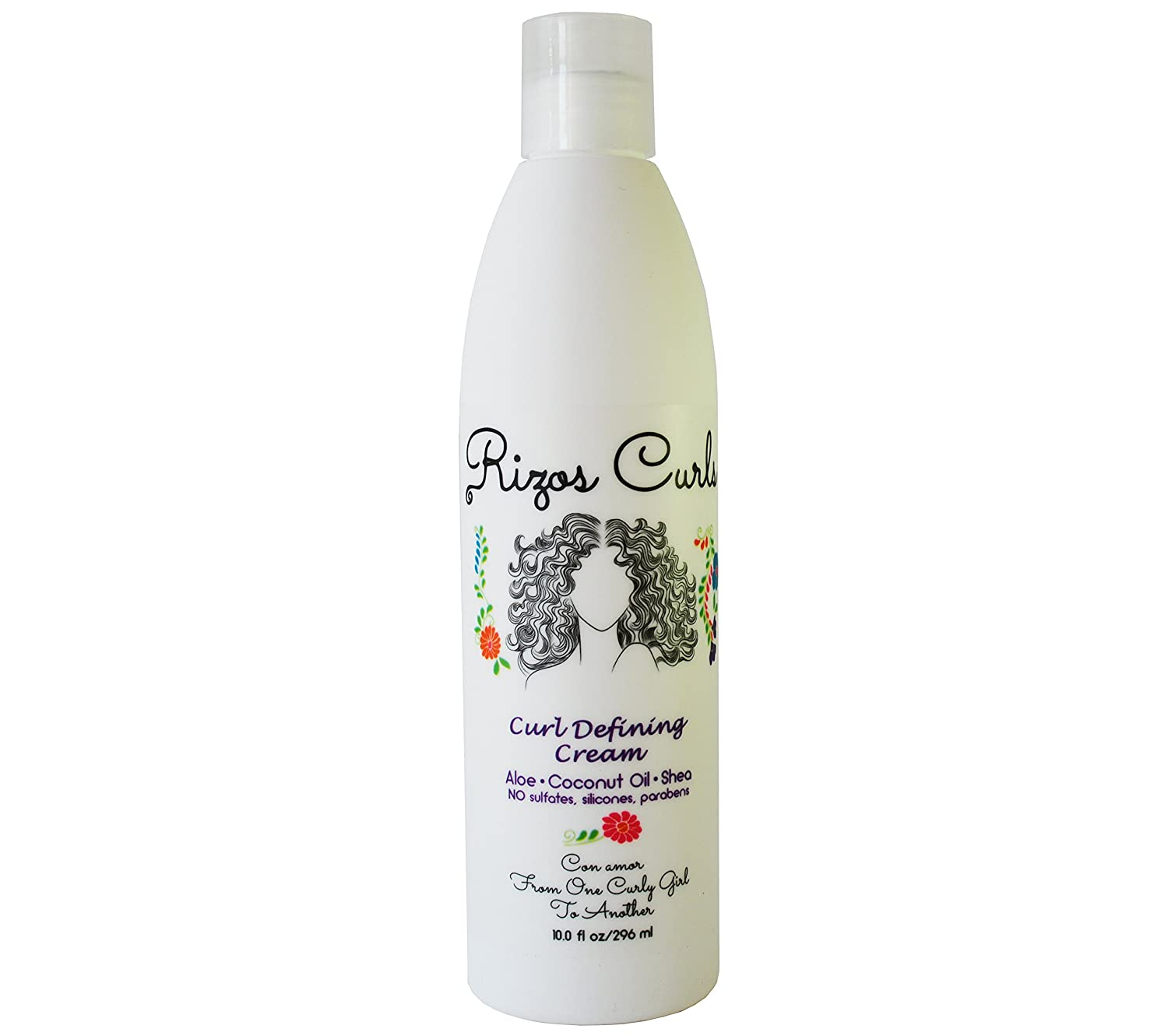 Rizos Curls Curl Defining Cream for Curly Hair. For Defined, Bouncy, Shiny, Frizz-Free, Voluminous Curls. With Aloe Vera, Shea Butter & Coconut Oil.