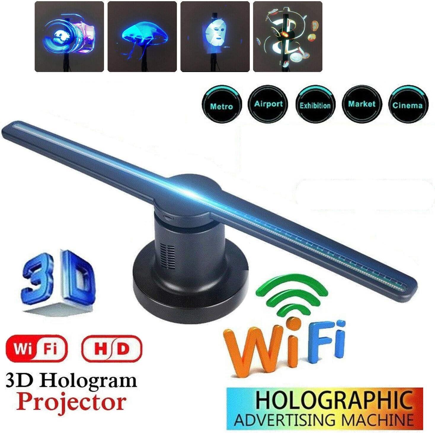 FairytaleMM 3D LED WiFi Proyector holográfico Pantalla Ventilador ...