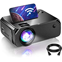 WiFi Mini Projector, Projectors for Outdoor Movies, 200 Inch Picture, Outdoor Movie Projector, Compatible with TV Stick…