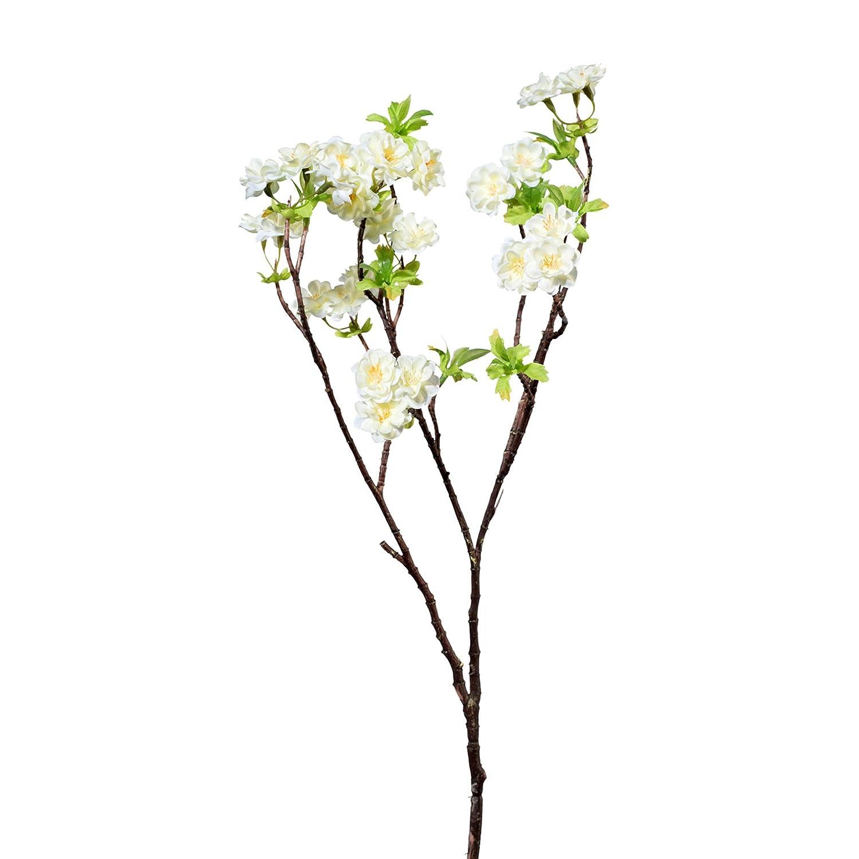 K/ünstlicher KIRSCHBL/ÜTENZWEIG ca 70 cm WEISS Zweig mit Kirschbl/üten Kirsch
