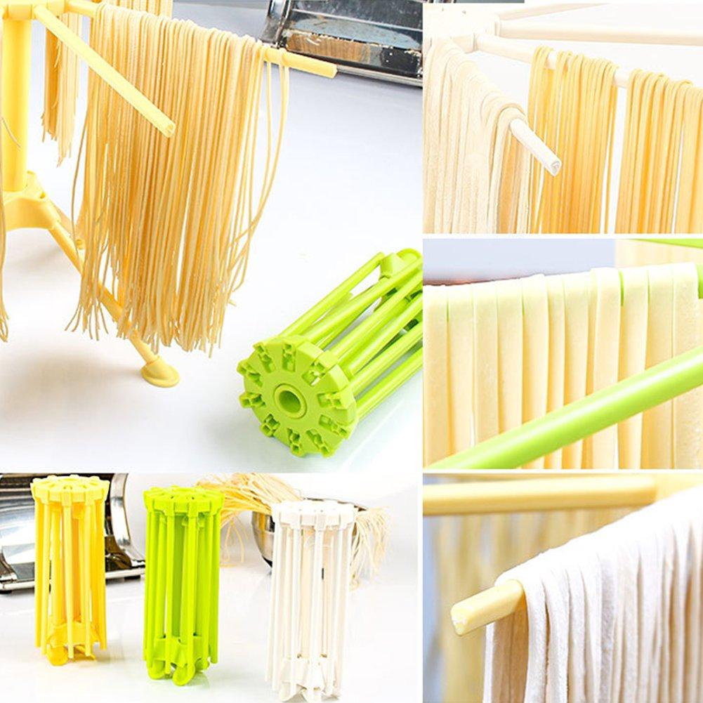 Zehui - Tubo flotador para piscina accesorio de plástico plegable cara accesorio de cocina Gadget de fideos Pasta Spaghetti Panificadora accesorio de rack: ...
