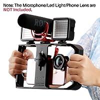 Ulanzi U-rig Pro Smartphone vidéo Rig Handheld iPhone Filmmaking Cage avec 3Sabot Mounts téléphone vidéo Stabilisateur pour vidéoprojecteur Videomaker pour iPhone X 87Plus Samsung Xiaomi