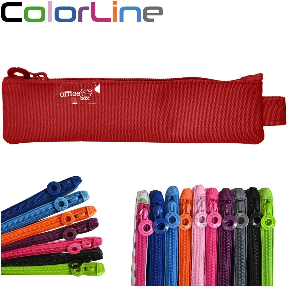 Colorline 59411 - Portatodo Mini, Estuche Multiuso para Viaje, Material Escolar, Neceser y Pequeños Objetos, Color Fucsia, Medidas 20 cm x 5 cm: Amazon.es: Oficina y papelería