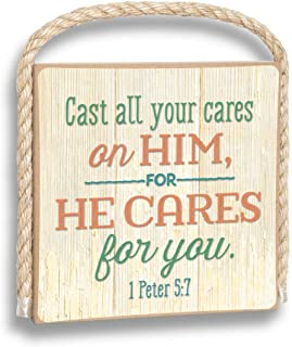 product image for Imagine Design Cast All Your Cares on Him Gone Coastal Plaque