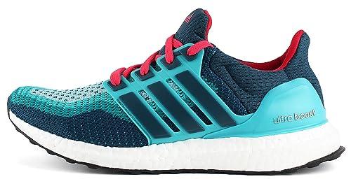 new concept 62f02 fd134 adidas Ultra Boost J, Zapatillas de Running Unisex niños, VerdeAzulRojo  (VertraMineraRojimp), 38 23 EU Amazon.es Zapatos y complementos