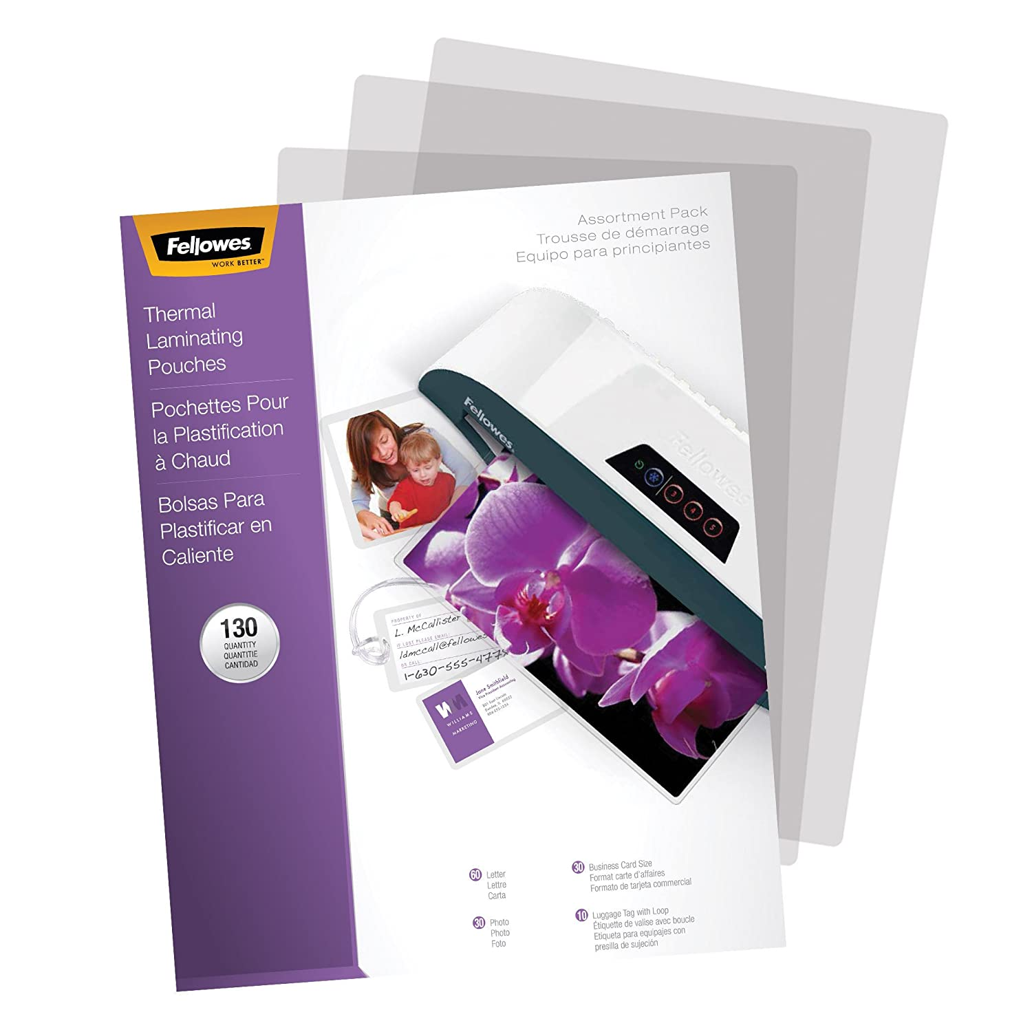 Amazon fellowes laminating pouch thermal starter kit 130 amazon fellowes laminating pouch thermal starter kit 130 pack 5208502 laminating supplies office products reheart Images