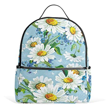 f6bc85e9e77c Amazon.com: Sunlome Beautiful White Flower Blue Floral Laptop ...
