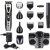 SurkerRFC-518Kit de cortapelos y afeitadorapara hombres, 5 en 1 multifuncional, inalámbrico, recargable