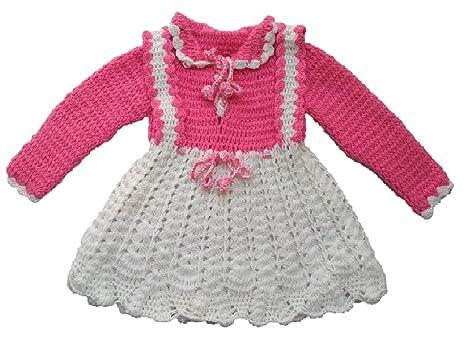 22ab44765 PMG Baby Sweater winter wear Woolen handmade Frock Sweater for baby girls  12-18 months