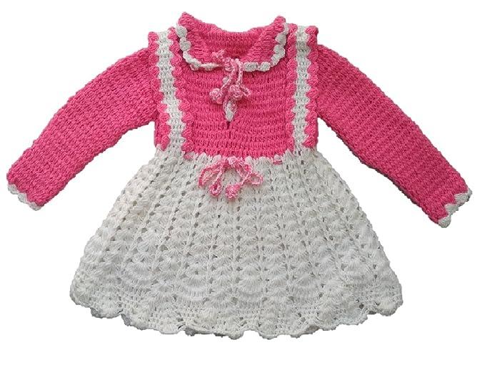 db294811408a PMG Baby Sweater winter wear Woolen handmade Frock Sweater for baby ...