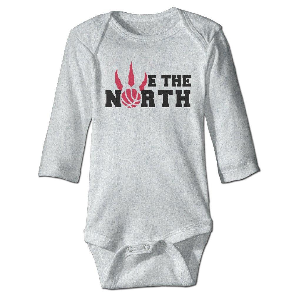 Infant We The North Toronto Raptors Basketball Fans Long Sleeve Romper Bodysuit VOVNDO.Co