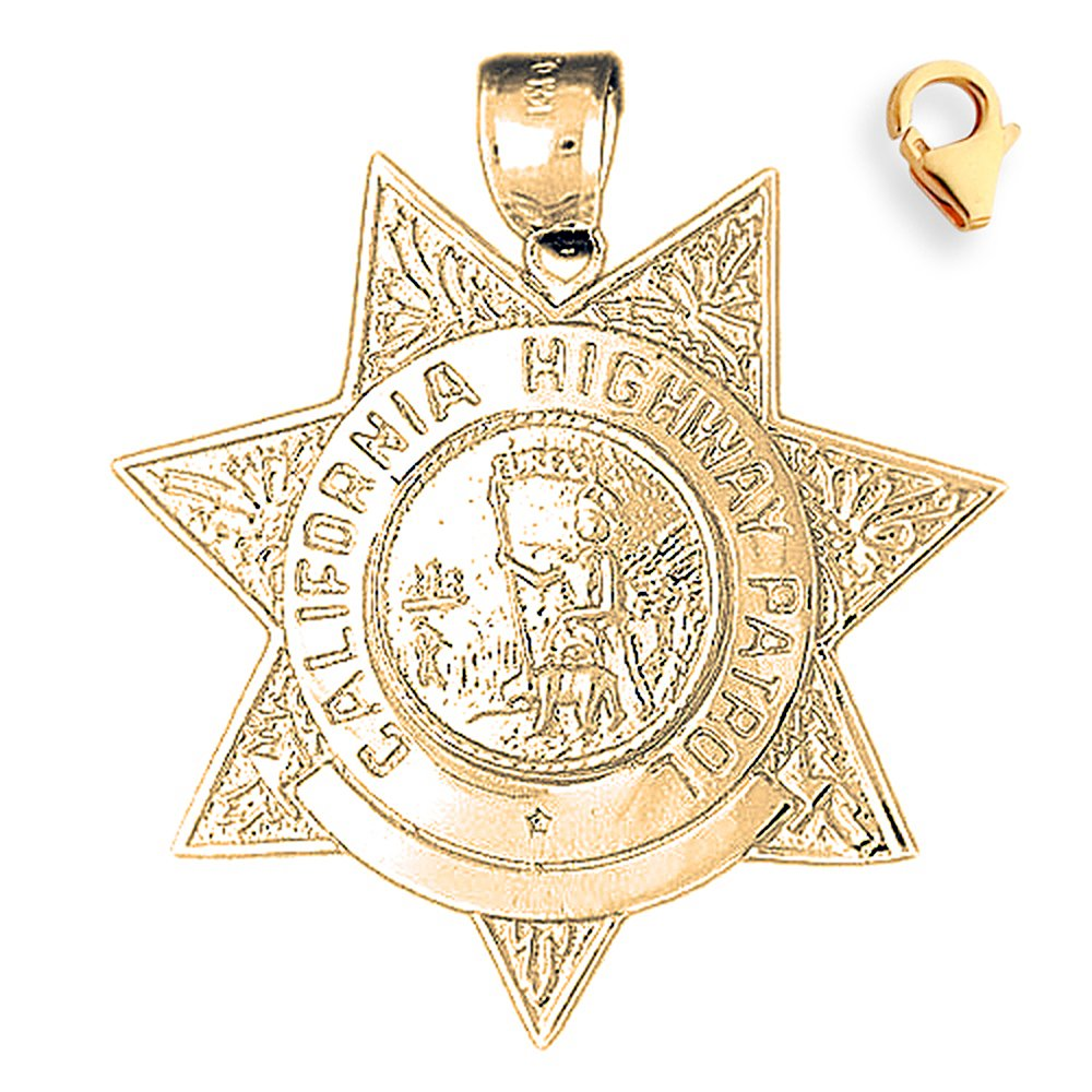 40mm Silver Yellow Plated California Highway Patrol Charm