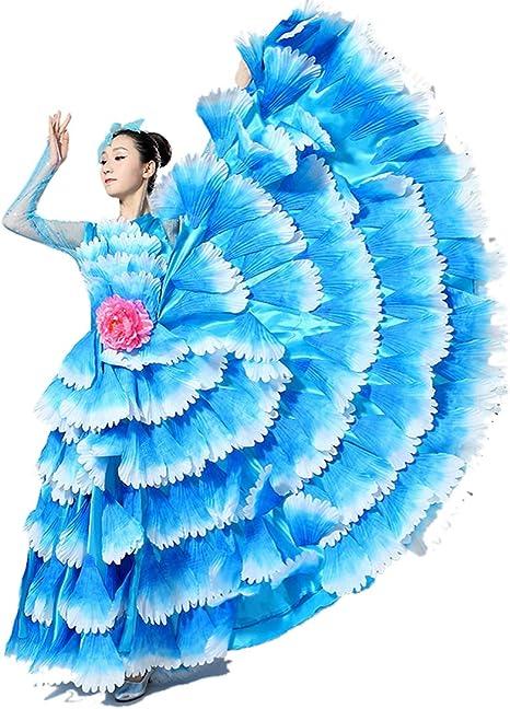 ZYLL Falda Flamenca Falda De Gasa De La Danza del Vientre De Las ...