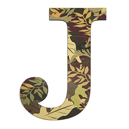 11 Tall Mossy Oak Designer Camo Wall Letter J Camo Pattern 3d Wall Decor Unique Wall Initial For Living Room Bedroom Man Cave Boys Room Girls Room
