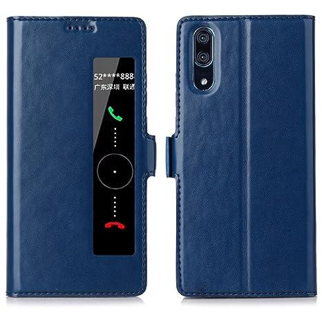 East Coo Huawei P20 Pro móvil, Premium Cuero PU Smart Flip Case Funda Carcasa con función [Wake Up] [Stand] [Magnetic Closure] para Huawei P20 Pro ...