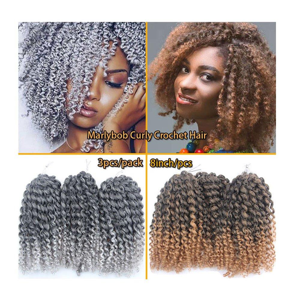 Amazoncom 3packs Total 9bundles Malibob Kinky Curly Crochet