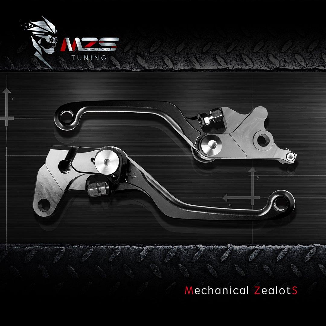 Black MZS Pivot Levers Brake Clutch CNC for Suzuki RM85 2005-2018// RM125 RM250 2004-2008